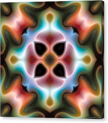 Canvas Print featuring the digital art Mandala 82 by Terry Reynoldson