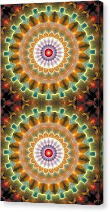 Mandala 87 For Iphone Double Canvas Print by Terry Reynoldson