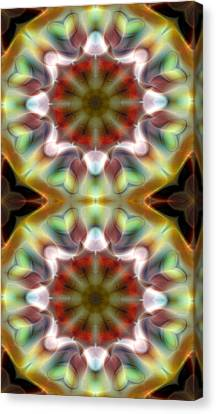 Mandala 97 For Iphone Double Canvas Print by Terry Reynoldson
