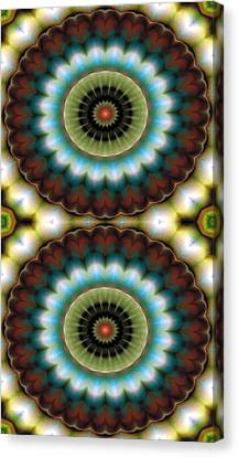 Mandala 99 For Iphone Double Canvas Print by Terry Reynoldson