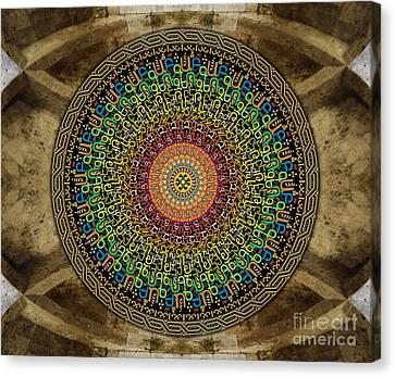 Mandala Armenian Alphabet Sp Canvas Print by Bedros Awak