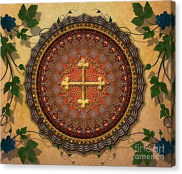 Mandala Armenian Cross Sp Canvas Print