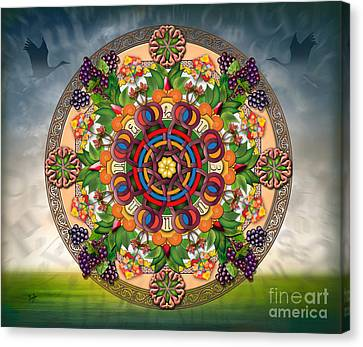 Mandala Armenian Grapes - Sp Canvas Print by Bedros Awak