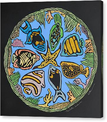 Mandala Caribe Canvas Print by Diane Cutter