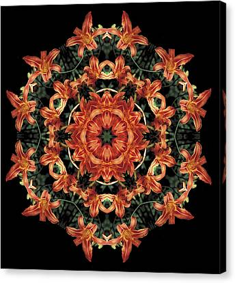 Canvas Print featuring the photograph Mandala Daylily by Nancy Griswold