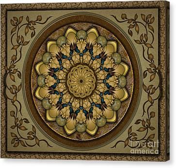 Earth Tones Canvas Print - Mandala Earth Shell Sp by Peter Awax