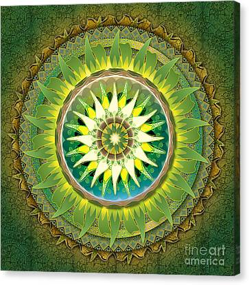 Mandala Green Canvas Print