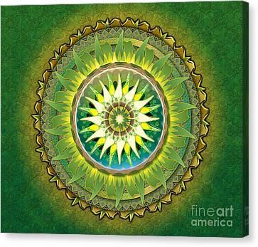 Mandala Green Sp Canvas Print by Bedros Awak