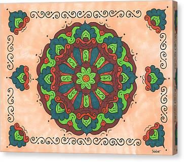 Mandala Love Canvas Print by Susie WEBER