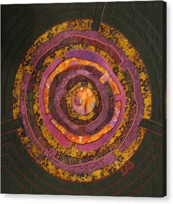 Mandala No 7 Purple Labyrinth Canvas Print by Lynda K Boardman