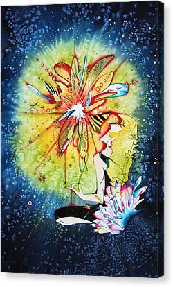 Mandala Observer Canvas Print by Zuzana Vass