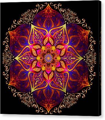 Mandala Of Fire  Canvas Print by Fred Andrews IV