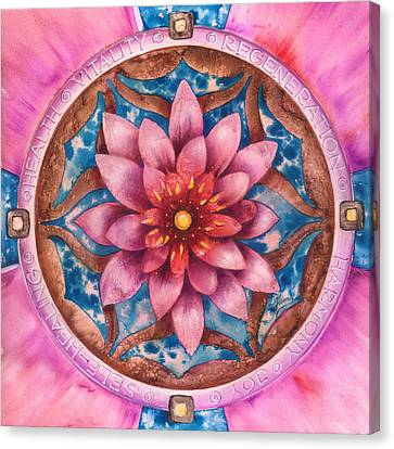Mandala Of Health Canvas Print by Anna Ewa Miarczynska