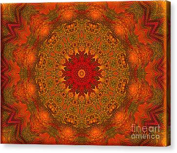 Mandala Of The Rising Sun - Spiritual Art By Giada Rossi Canvas Print