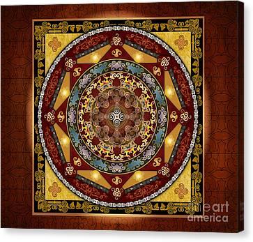Mandala Oriental Bliss Sp Canvas Print by Bedros Awak