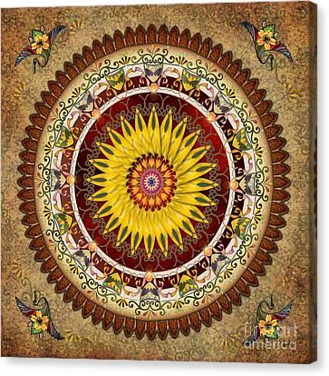 Mandala Sunflower Canvas Print