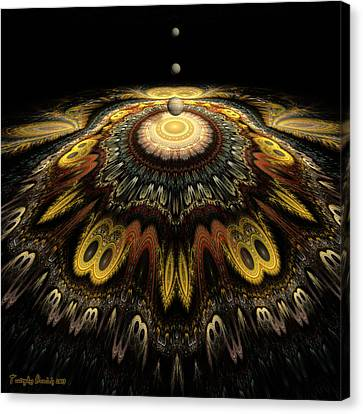 Mandala The Nun Did Not Have Time To Finish. 2013 80/80 Cm.  Canvas Print by Tautvydas Davainis