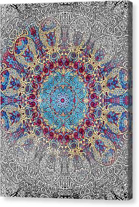 Painted Details Canvas Print - Mandalan Tapestry by John Haldane