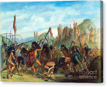 Mandan: Bison Dance, 1844 Canvas Print