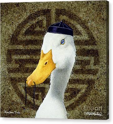 Mandarin Duck ...  Canvas Print