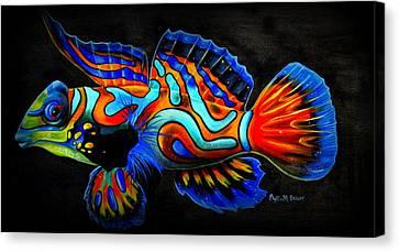 Mandarin Fish Canvas Print by Phyllis Beiser
