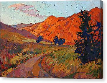 Canvas Print featuring the painting Mandarin Light by Erin Hanson