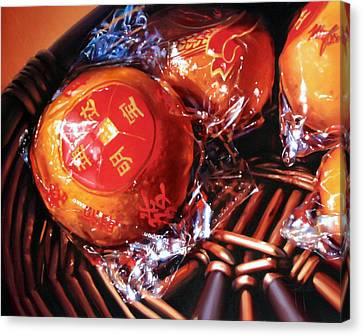 Canvas Print - Mandarins In Cello Packets by Dianna Ponting