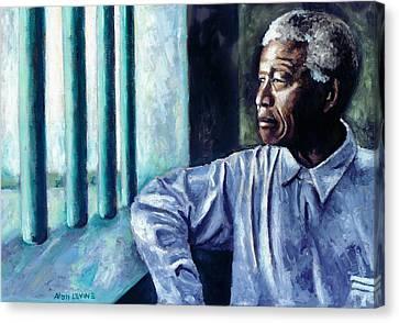 Mandela - Robben Island Canvas Print by Alan Levine