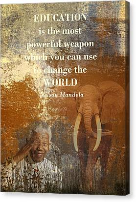 South Africa Canvas Print - Mandela by Sharon Lisa Clarke