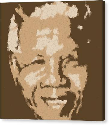 Mandela South African Icon  Brown Symbolizes High Ethical Standards And He Is Rewarded Le Prix De Le Canvas Print by Asbjorn Lonvig