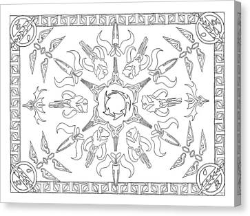 Mando'ade Darasuum Bw Canvas Print by Mary J Winters-Meyer