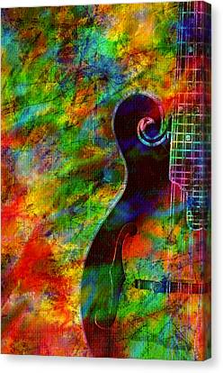Mandolin Magic Canvas Print by Ally  White