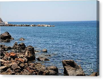 Mandraki Coastline Nisyros Canvas Print by David Fowler