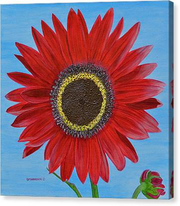 Mandy's Burgundy Beauty Canvas Print by Donna  Manaraze