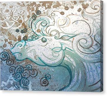 Mane View Canvas Print by Corina Graves