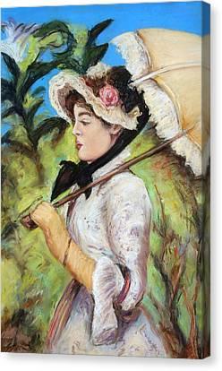 Manet Woman With Parasol Canvas Print