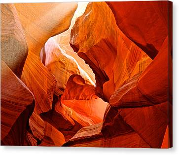 Manger Scene In Lower Antelope Canyon-az Canvas Print by Ruth Hager