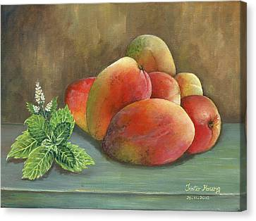 Mango And Mint Canvas Print by Trister Hosang