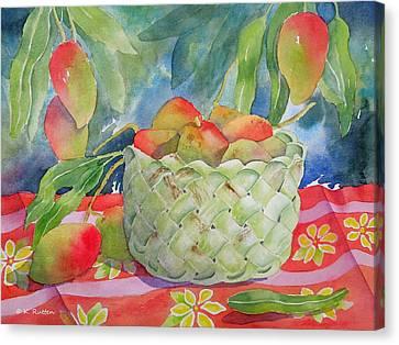 Mango Harvest Canvas Print by Kathleen Rutten
