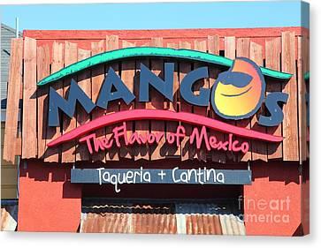 Mangos Restaurant At San Francisco California 5d26091 Canvas Print by Wingsdomain Art and Photography