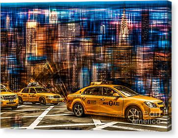 Manhattan - Yellow Cabs I Canvas Print by Hannes Cmarits