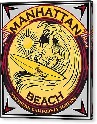 Manhattan Beach California Surfing Canvas Print