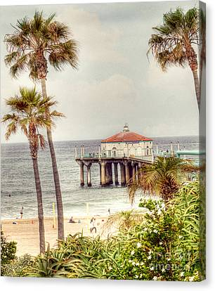 Manhattan Beach Pier Canvas Print by Juli Scalzi