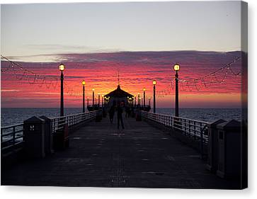 Manhattan Beach Sunset Canvas Print