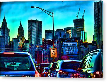 Manhattan Bound Canvas Print by Terry Cork