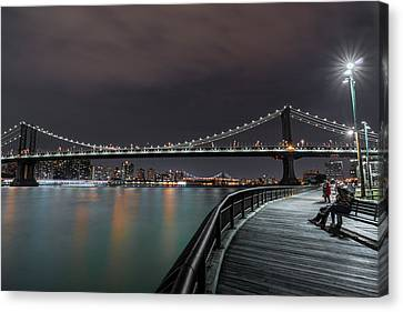 Manhattan Bridge - New York - Usa 2 Canvas Print by Larry Marshall