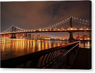 Manhattan Bridge And Williamsburg Bridge Canvas Print
