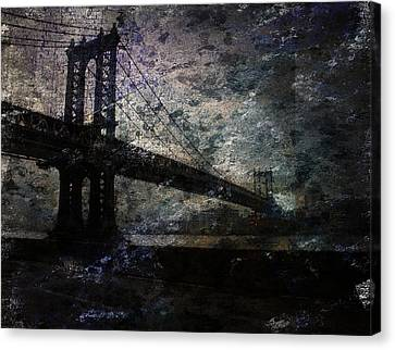 Manhattan Bridge Canvas Print by Bruce Rolff