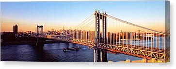 Manhattan Bridge, Nyc, New York City Canvas Print by Panoramic Images
