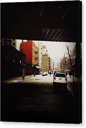 City Streets Canvas Print - Manhattan Bridge Overpass - Chinatown - New York City by Vivienne Gucwa